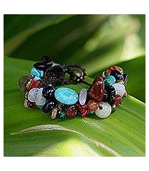 quartz beaded bracelet, 'festive fusion' (thailand)