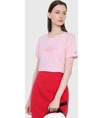 camiseta rosa tommy hilfiger