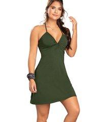 vestido para mujer verde militar atypical