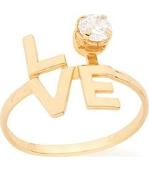 anel skinny ring love com zircônia rommanel