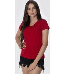 t-shirt osmoze z 602110167 vermelho - vermelho - p - feminino