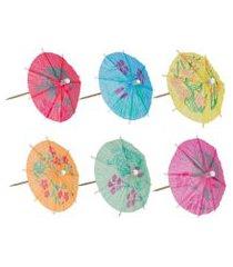 jogo de enfeites guarda-chuva 60 peças - home style