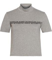 camiseta manga corta mirrored institutional mock n gris calvin klein