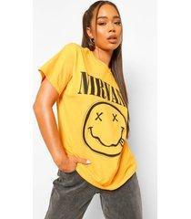 nirvana license t-shirt, yellow