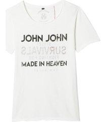 camiseta john john rx survivals malha branco masculina (branco, gg)