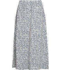 flora knälång kjol blå munthe