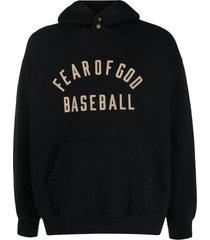 baseball hoodie, black
