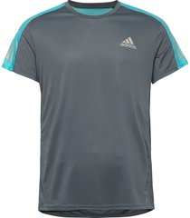 own the run tee t-shirts short-sleeved grå adidas performance