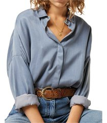 lady d cupro and cotton shirt