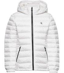 fitted light down jacket gevoerd jack wit calvin klein