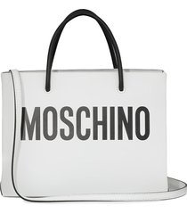 moschino loged tote bag