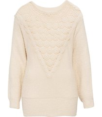maglione con maniche a pipistrello e pizzo (beige) - bodyflirt