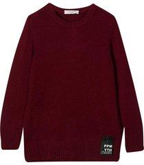 paolo pecora burgundy sweater