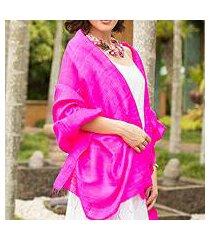silk shawl, 'pink lipstick' (thailand)