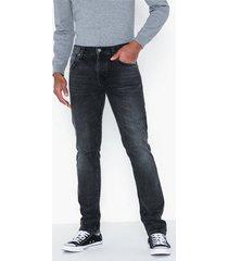 nudie jeans grim tim concrete black jeans svart