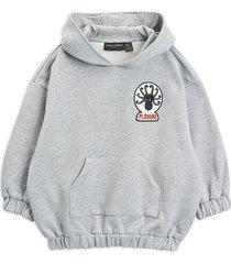 octopus patch hoodie hoodie trui grijs mini rodini