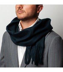 sciarpa da uomo, maalbi, blu scuro classico, autunno inverno | lanieri