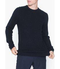 jack & jones jcocloud knit crew neck tröjor mörk blå