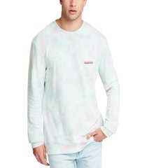 guess men's tie dye logo sweatshirt
