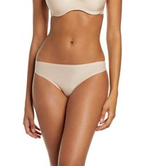 women's chantelle lingerie soft stretch thong, size one size - beige
