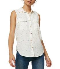 o'neill juniors' printed sleeveless shirt