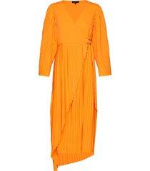 slfmelly 7/8 ankle dress b jurk knielengte oranje selected femme