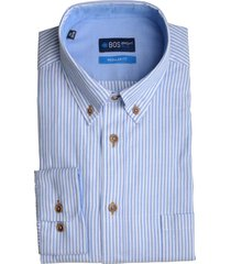 bos bright blue blue willem shirt casual bd 20107wi03bo/210 l.blue licht blauw
