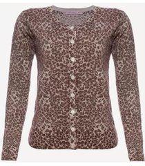 suéter aleatory fabulous animal print feminino
