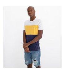 camiseta manga curta estampa whatever com recortes | blue steel | multicores | pp