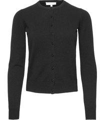 lydie knit stickad tröja cardigan svart andiata