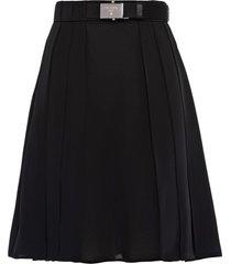 prada belted pleated mini skirt - black