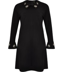 dress beaded collar interlock
