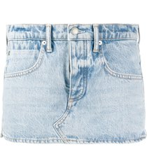 alexander wang denim short skort - blue