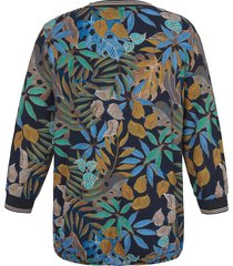 shirt met 3/4-mouwen en ronde hals van via appia due multicolour