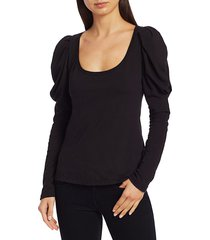 a.l.c. women's sewell puff-sleeve t-shirt - citron - size l