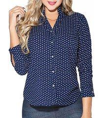 blusa marian azul  para mujer croydon