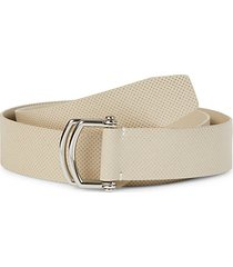perforated leather golf belt