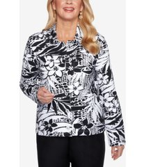 alfred dunner women's missy classics tropical skin print jacket