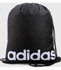 tula negro-blanco adidas performance gymsack 16 litros