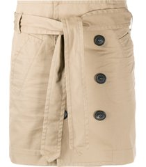 dsquared2 belted trench mini skirt - neutrals