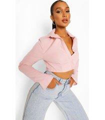 korte blouse, pink