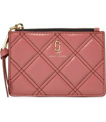marc jacobs quilted logo wallet - pink