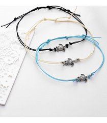 alloy sea turtle foot jewelry anklet set
