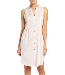 women's hanro jersey short nightgown, size x-small - pink