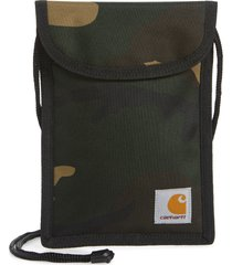 carhartt work in progress collins neck pouch, size one size - camo laurel