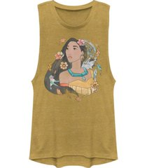 disney juniors' princesses pocahontas dreamcatcher sketch festival muscle tank top