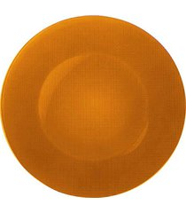 sousplat vidro 31 cm laranja bormioli rocco