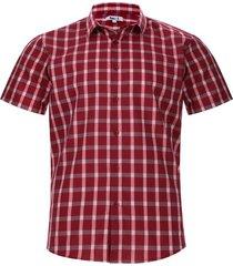 camisa hombre a cuadros color rojo, talla l