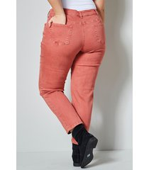 ankellånga jeans janet & joyce terrakotta