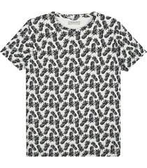 t-shirt ananas wit